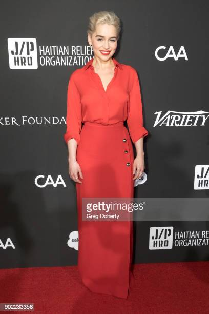 Emilia Clarke attends the SEAN PENN J/P HRO GALA A Gala Dinner to Benefit J/P Haitian Relief Organization and a Coalition of Disaster Relief...