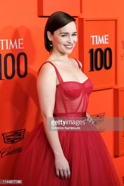 Emilia Clarke attends the TIME 100 Gala Red Carpet at Jazz at Lincoln Center on April 23 2019 in New York City