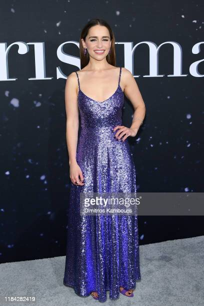 Emilia Clarke attends the Universal Pictures Premiere of Last Christmas at AMC Lincoln Square on October 29, 2019 in New York City.