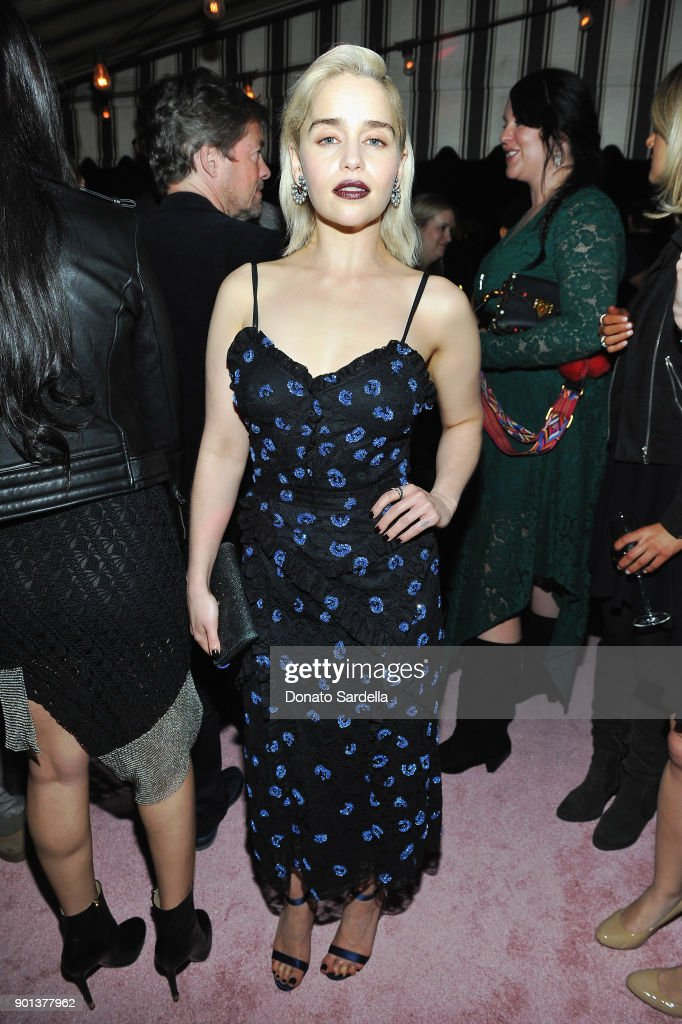 Emilia Clarke attends W Magazine's Celebration of its 'Best Performances' Portfolio and the Golden Globes with Audi, Dior, and Dom Perignon at Chateau Marmont on January 4, 2018 in Los Angeles, California.