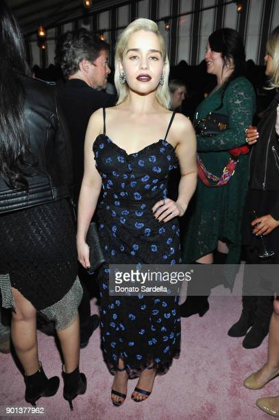 Emilia Clarke attends W Magazine's Celebration of its 'Best Performances' Portfolio and the Golden Globes with Audi Dior and Dom Perignon at Chateau...