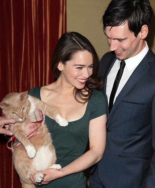 Usa breakfast at tiffanys meet greet pictures getty images emilia clarke cory michael smith with vito vincent attending the meet greet the company m4hsunfo