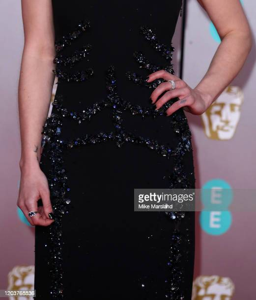 Emilia Clarke detail attends the EE British Academy Film Awards 2020 at Royal Albert Hall on February 02 2020 in London England