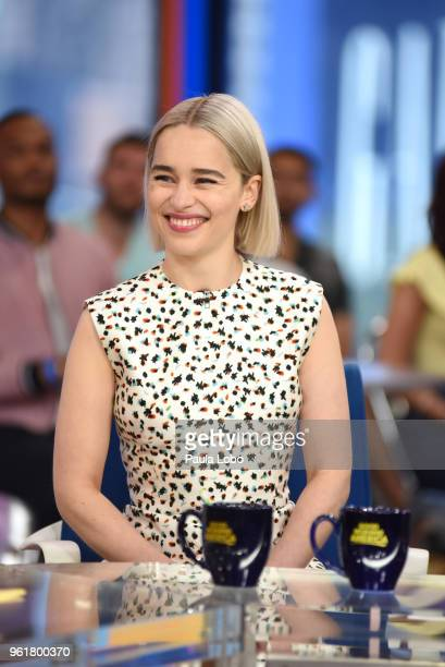 AMERICA Emilia Clarke is a guest on 'Good Morning America' Wednesday May 23 airing on the ABC Television Network EMILIA