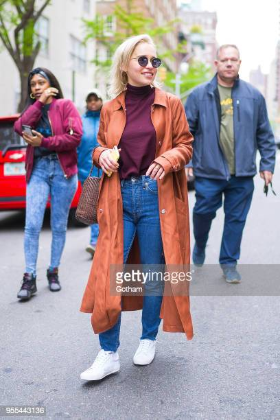 Emilia Clarke is seen in the Upper East Side on May 6 2018 in New York City