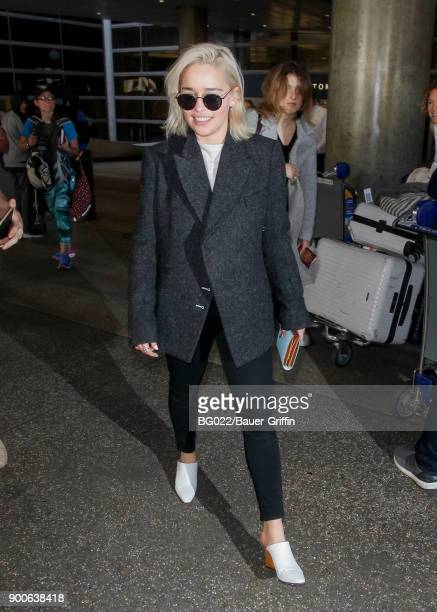 Emilia Clarke is seen on January 02 2018 in Los Angeles California