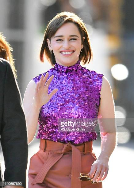 Emilia Clarke is seen on May 01 2019 in Los Angeles California
