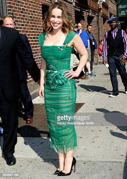 Emilia Clarke is seen on May 23 2016 in New York City
