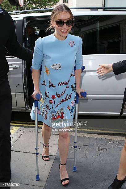 Emilia Clarke seen at Kiss FM on June 18 2015 in London England