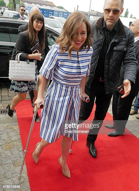 Emilia Clarke sighted at SAT1 television studio on June 22 2015 in Berlin Germany