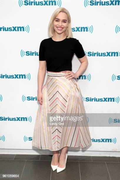 Emilia Clarke takes part in SiriusXM's Town Hall with the cast of Solo A Star Wars Story hosted by SiriusXM's Dalton Ross at SiriusXM Studios on May...