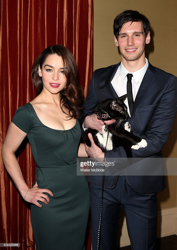 Usa breakfast at tiffanys meet greet pictures getty images emilia clarke with monty cory michael smith attending the meet greet the company of m4hsunfo