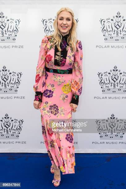 Emilia de Poret attends an award ceremony for the Polar Music Prize at Konserthuset on June 15, 2017 in Stockholm, Sweden.