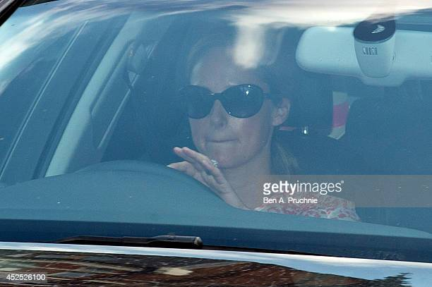 Emilia D'erlanger arrives at Kensington Palace as Prince George of Cambridge turns one year old on July 22 2014 in London England Prince George of...