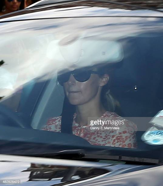 Emilia D'Erlanger arrives to attend Prince George's birthday party as Prince George of Cambridge turns 1 on July 22 2014 in London England Prince...