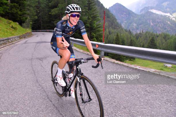 Emilia Fahlin of Sweden and Team Wiggle High5 / during the 29th Tour of Italy 2018 Women Stage 7 a 15km Individual time trial stage from Lanzada to...