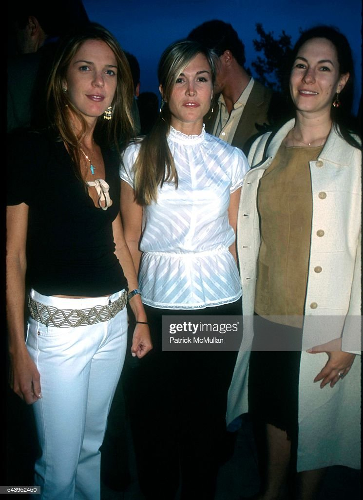 Emilia Fanjul Pfeifler, Tinsley Mortimer and Jill Kopelman Kargman at the The Racing Association on June 4, 2002 in NY.