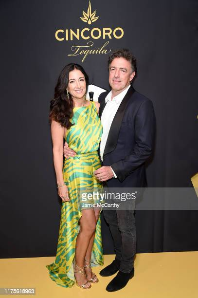 Emilia Fazzalari and Wyc Grousbeck attend the Cincoro Tequila launch at CATCH Steak on September 18 2019 in New York City
