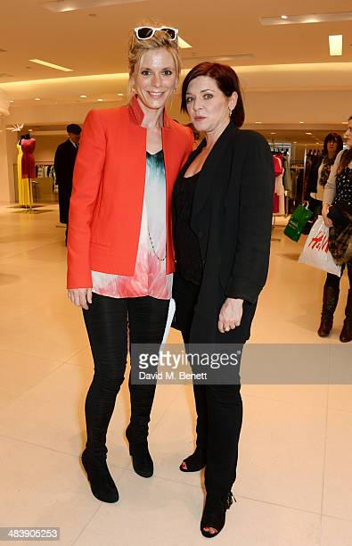 Emilia Fox and Finty Williams attend the Shop with the Stars, a public shopping evening to celebrate The Olivier Awards with MasterCard, to raise...