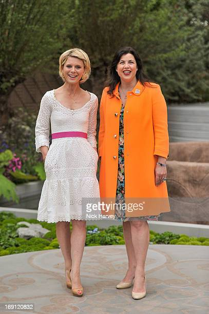 Emilia Fox and Kirstie Allsopp attend the Chelsea Flower Show press and VIP preview day at Royal Hospital Chelsea on May 20 2013 in London England