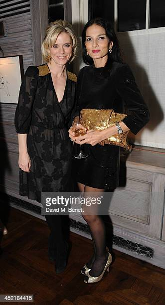 Emilia Fox and Yasmin Mills attends a drinks reception hosted by Ben Fogle and Bernie Shrosbree to celebrate Johnnie Walker Blue Label Alfred Dunhill...