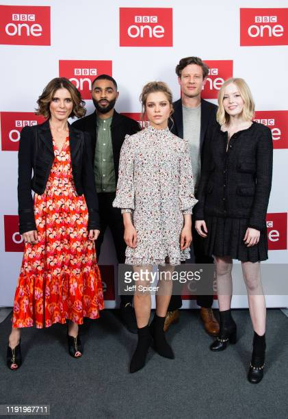 Emilia Fox Anthony Welsh Sophie Cookson James Norton and Ellie Bamber attend the UK premiere of The Trial Of Christine Keeler at Content London on...