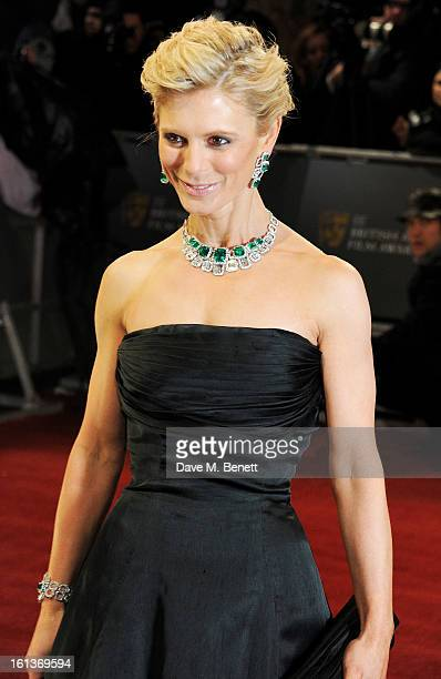 Emilia Fox arrives at the EE British Academy Film Awards at the Royal Opera House on February 10 2013 in London England