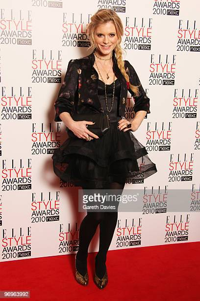 Emilia Fox arrives at the Elle Style Awards 2010 held at The Grand Connaught Rooms on February 22 2010 in London England