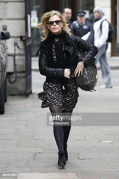 Emilia Fox attends the funeral of Christopher Cazenove at St Paul's Church Actor's Church Covent Garden on April 16 2010 in London England