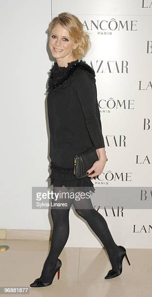 Emilia Fox attends the Lancome and Harper's Bazaar BAFTA party held at St Martins Lane Hotel on February 19 2010 in London England