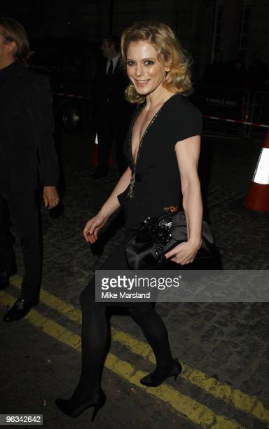 Emilia Fox attends the UK Film Premiere of A Single Man at the Curzon Mayfair on 1st February 2009 in London England