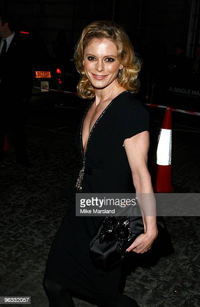 Emilia Fox attends UK Film Premiere of 'A Single Man' at The Curzon Mayfair on February 1, 2010 in London, England.