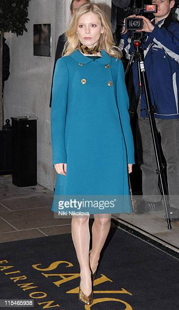 Emilia Fox during Evening Standard Theatre Awards Arrivals at The Savoy in London Great Britain