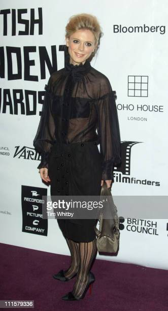 Emilia Fox during The 2005 British Independent Film Awards Arrivals at Hammersmith Palais in London Great Britain