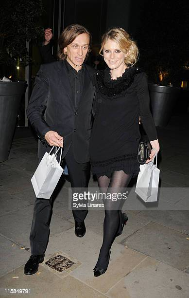 Emilia Fox leaving the Lancome and Harper's Bazaar BAFTA party held at St Martin's Lane Hotel on February 19 2010 in London England
