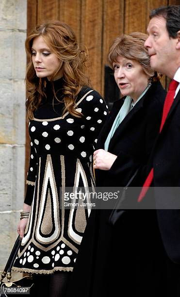 Emilia Fox Madelaine Newton Kevin Whately leave the wedding of Billie Piper and Laurence Fox at the Parish Church Of St Mary's on December 31 2007 in...
