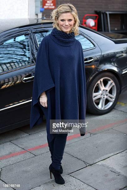 Emilia Fox seen at The ITV Studios on January 9 2013 in London England
