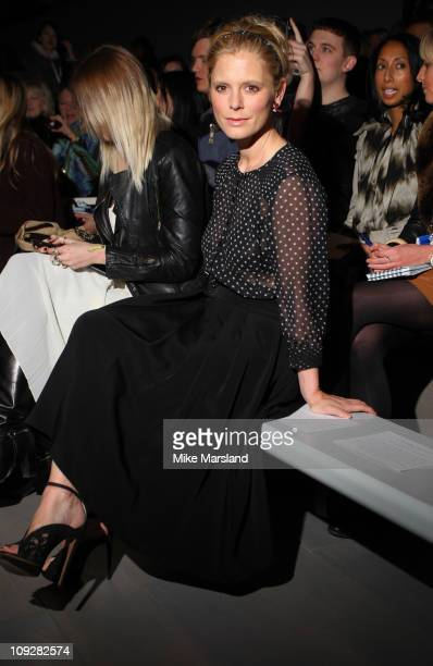 Emilia Fox seen in the front row at the Corrie Nielsen show at London Fashion Week Autumn/Winter 2011 on February 18 2011 in London England
