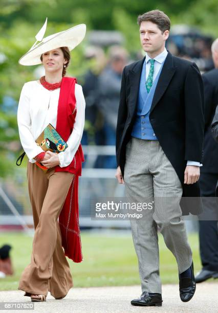 Emilia JardinePaterson and David JardinePaterson attend the wedding of Pippa Middleton and James Matthews at St Mark's Church on May 20 2017 in...