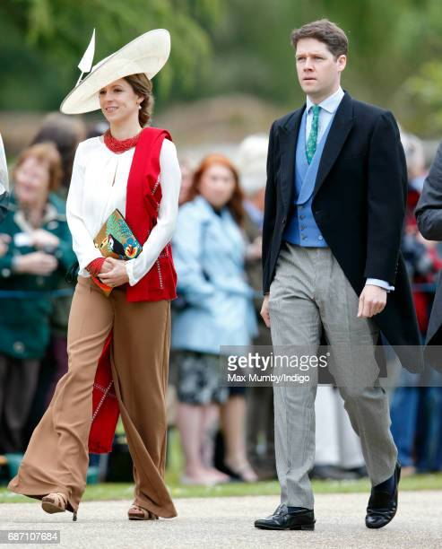 Emilia Jardine-Paterson and David Jardine-Paterson attend the wedding of Pippa Middleton and James Matthews at St Mark's Church on May 20, 2017 in...
