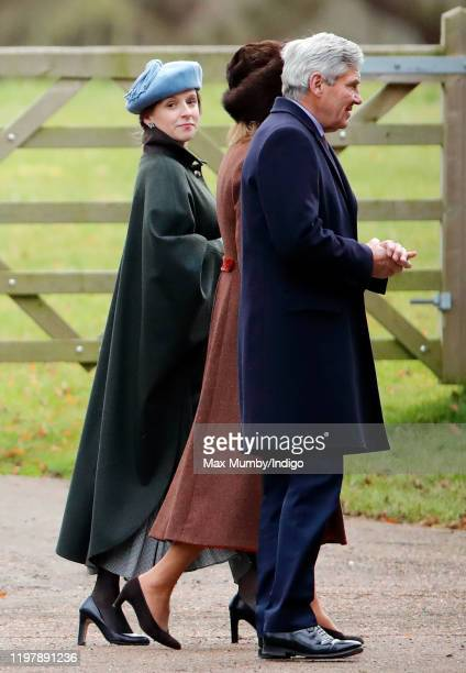 Emilia JardinePaterson Carole Middleton and Michael Middleton attend Sunday service at the Church of St Mary Magdalene on the Sandringham estate on...