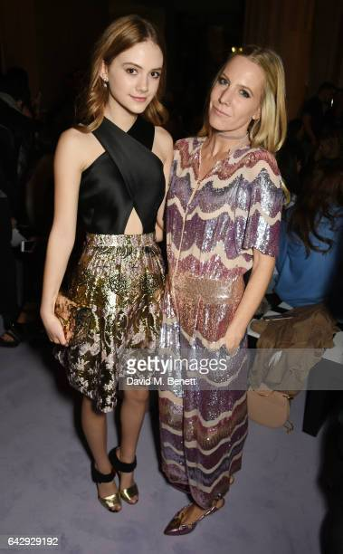 Emilia Jones and Alice Nayor Leyland attends the Temperley London FW 17 Fashion Show on February 19 2017 in London England