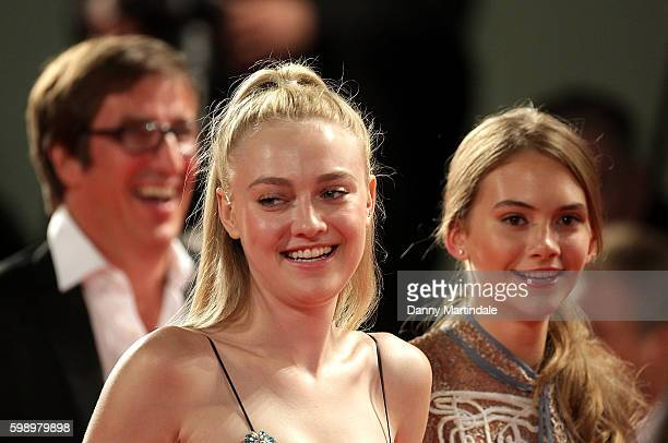 Emilia Jones and Dakota Fanning attends the premiere of 'Brimstone' during the 73rd Venice Film Festival at on September 3 2016 in Venice Italy