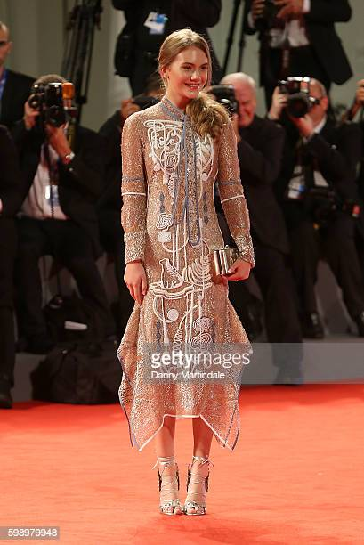 Emilia Jones attends the premiere of 'Brimstone' during the 73rd Venice Film Festival at on September 3 2016 in Venice Italy