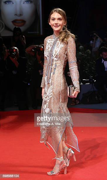 Emilia Jones attends the premiere of 'Brimstone' during the 73rd Venice Film Festival at Sala Grande on September 3 2016 in Venice Italy