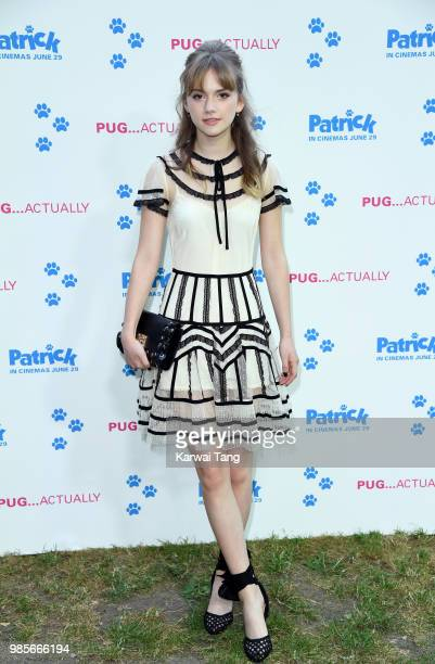 Emilia Jones attends the UK premiere of 'Patrick' on June 27 2018 in London England