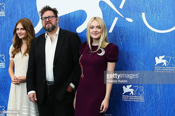 Emilia Jones Martin Koolhoven and Dakota Fanning attend the photocall of 'Brimstone' during the 73rd Venice Film Festival at Palazzo del Casino on...