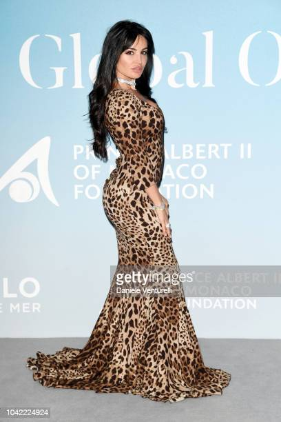 Emilia Kazandjian attends the Gala for the Global Ocean hosted by HSH Prince Albert II of Monaco at Opera of MonteCarloon September 26 2018 in...