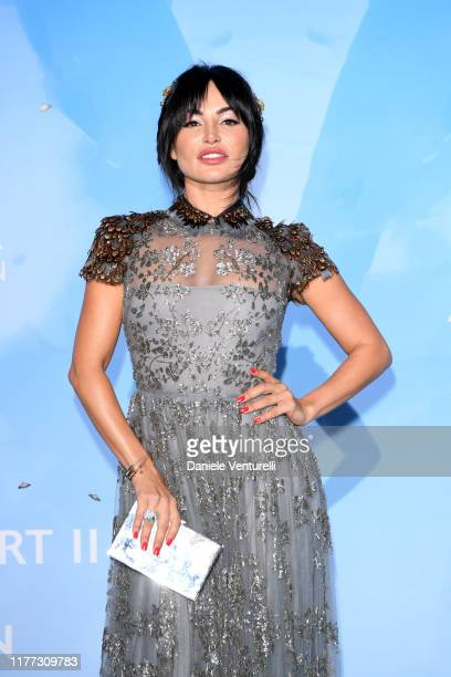Emilia Kazandjian attends the Gala for the Global Ocean hosted by H.S.H. Prince Albert II of Monaco at Opera of Monte-Carlo on September 26, 2019 in...