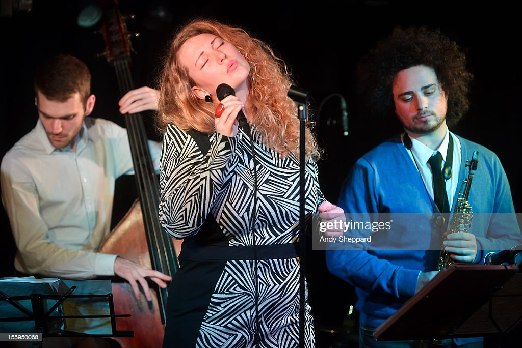 Emilia Martensson (C) performs on stage at Pizza Express Jazz Club during the London Jazz Festival 2012 on November 9, 2012 in London, United Kingdom.